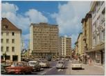 AK Foto Gießen Stadtzentrum mit Dach-Cafe Hotel Autos 1970