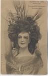 AK Frau mit Blumen im Haar Exposition de la coiffure Anvers Antwerpen 1909