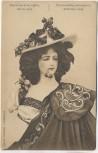 AK Frau mit Kirschen im Hut und Mund Exposition de la coiffure Anvers Antwerpen 1909