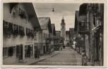 AK Foto Sonthofen Ritter-von-Epp-Straße mit Menschen Oberallgäu 1935