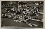 AK Foto Meersburg am Bodensee vom Flugzeug aus 1940