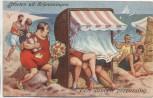 AK Groeten uit Scheveningen Een dubbele verrassing Comic Südholland 1930