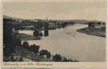 AK Leitmeritz Litoměřice an der Elbe Ortsansicht mit Dampfer Sudetengau Tschechien 1935