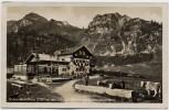 AK Foto Schliersee Bodenschneidhaus und Hohenpeissenberg Menschen Kühe 1935