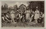AK Foto Bad Wörishofen Die lustigen Holzhacker Gebirgstrachten-Verein Alpenblick 1937 RAR