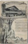 AK Oberaudorf Gasthaus zum feurigen Tatzelwurm mit Gedicht der Tazzelwurm 1906