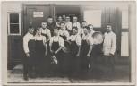 AK Foto Eggenstein Leopoldshafen Reichsarbeitsdienst Gruppenfoto beim Küchendienst 1935 RAR