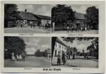AK Mehrbild Gruß aus Wieglitz Gasthaus Becker Bartels Dorfstraße bei Bülstringen Haldensleben 1935 RAR