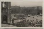 AK Foto Wien Volkstrauertag Trauerfeier vor dem Rathaus für die Gefallenen der Exekutive Österreich 1934