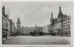 AK Foto Pardubice Pardubitz Marktplatz mit Brunnen Böhmen Tschechien 1939