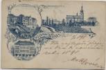 AK Vorläufer Lysá nad Labem Lissa an der Elbe Schule Kirche Böhmen Tschechien 1897 RAR