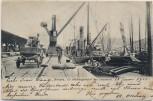 AK Anvers Antwerpen Hafenpartie mit Schiffe Kran Flandern Belgien 1905