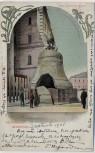 AK Mockba Moskau Glocke am Kreml mit Menschen Russland 1908