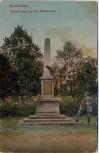 AK Germersheim Kriegerdenkmal auf dem Militärfriedhof 1919
