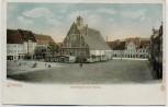 AK Grimma Marktplatz mit Wache 1900