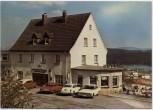 AK Foto Langscheid (Sundern) Sorpesee Hotel Volmert mit Autos 1970