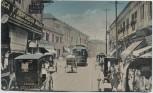 AK Manila Straßenansicht mit Geschäften Straßenbahn Philippinen 1909 RAR