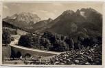 AK Foto Ramsau Deutsche Alpenstraße Lattenbachbrücke mit Watzmann und Hochkalter 1939