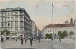 AK Wien 1.Wollzeile Menschen mit Cafe 1908 RAR