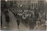 AK Foto Itzehoe Umzug viele Kinder Menschen Sattlerei Karl Kunert 1926 RAR