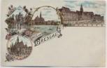 AK Gruss aus Breslau Wrocław Rathaus Dom Kreuzkirche Schlesien Polen 1900