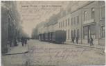 AK Comines Rue de la Republique mit Zug Feldpost 1.WK Lille Frankreich 1914