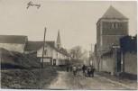AK Foto Cherisy Ortsansicht mit Kirche 1. WK Eure-et-Loir Frankreich 1916