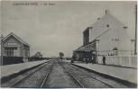 AK Staden De Statie Bahnhof Westflandern Belgien 1917