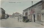 AK Pont-Faverger Pontfaverger-Moronvilliers Rue Thiers Cafe Restaurant Auto Feldpost Marne Frankreich 1914