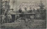 AK Wohnliches Winterheim in Feindesland Soldaten vor Unterstand 1.WK Feldpost 1915