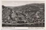 AK Blick auf Aßmannshausen Rhein Hotel Schöneck Trechtingshausen b. Rüdesheim 1940