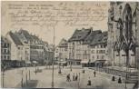 AK Mülhausen Mulhouse Partie am Rathaus-Platz Elsass Frankreich 1906