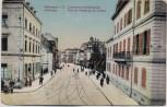 AK Mülhausen Mulhouse Colmarervorstadtstrasse Elsass Frankreich 1913