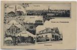 AK Gruss aus Freinsheim Winzerverein Bahnhof Kirche ... 1922 RAR