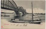 AK Nijmegen Spoorbrug Brücke mit Schiffen Gelderland Niederlande 1902