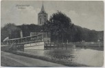 AK Monnickendam Aankomst Ortsansicht mit Schiff Nordholland Niederlande 1908