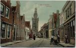 AK Monnickendam Kerkstraat mit Menschen Nordholland Niederlande 1910