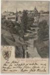 AK Luxemburg Ville de Luxembourg Blick auf S. Michel mit Wappen 1902