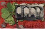 AK Passepartout Luxemburg Ville de Luxembourg Kleeblatt Viadukt 1902