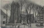 AK Middelfart Kirke viele Menschen Syddanmark Dänemark 1910
