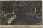 AK Finkenwärder Finkenwerder Gedenkfeier am Kriegerdenkmal anläßlich der Enthüllung des Eisernen Ankers Hamburg 1915 RAR