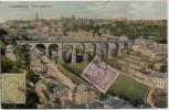 AK Luxemburg Ville de Luxembourg Ortsansicht mit Brücke 1912