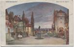 Künstler-AK Wien Hotel Münchnerhof vor 100 Jahren Österreich 1924