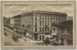 Künstler-AK Warschau Warszawa Marschall-Strasse Feldpost 1916