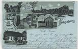 AK Gruss aus Horneburg Mondschein Molkerei Rittergut Langestrasse 1899