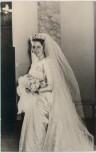 AK Foto Princess Marie Louise of Bulgaria Княгиня Мария Луиза Българска Brautkleid Hochzeit 1957 RAR