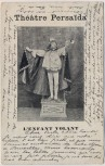 AK Theater Persaida L´enfant volant Das fliegende Kind Artist 1906