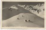 AK Fahrt vom Rotkogel nach Hochsölden und Sölden Skifahrer b. Imst Tirol Feldpost 1944
