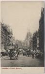 AK London Fleet Street Pferdekutschen Menschen Großbritannien 1910