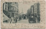 AK London The Strand Pferdekutschen Menschen Großbritannien 1902